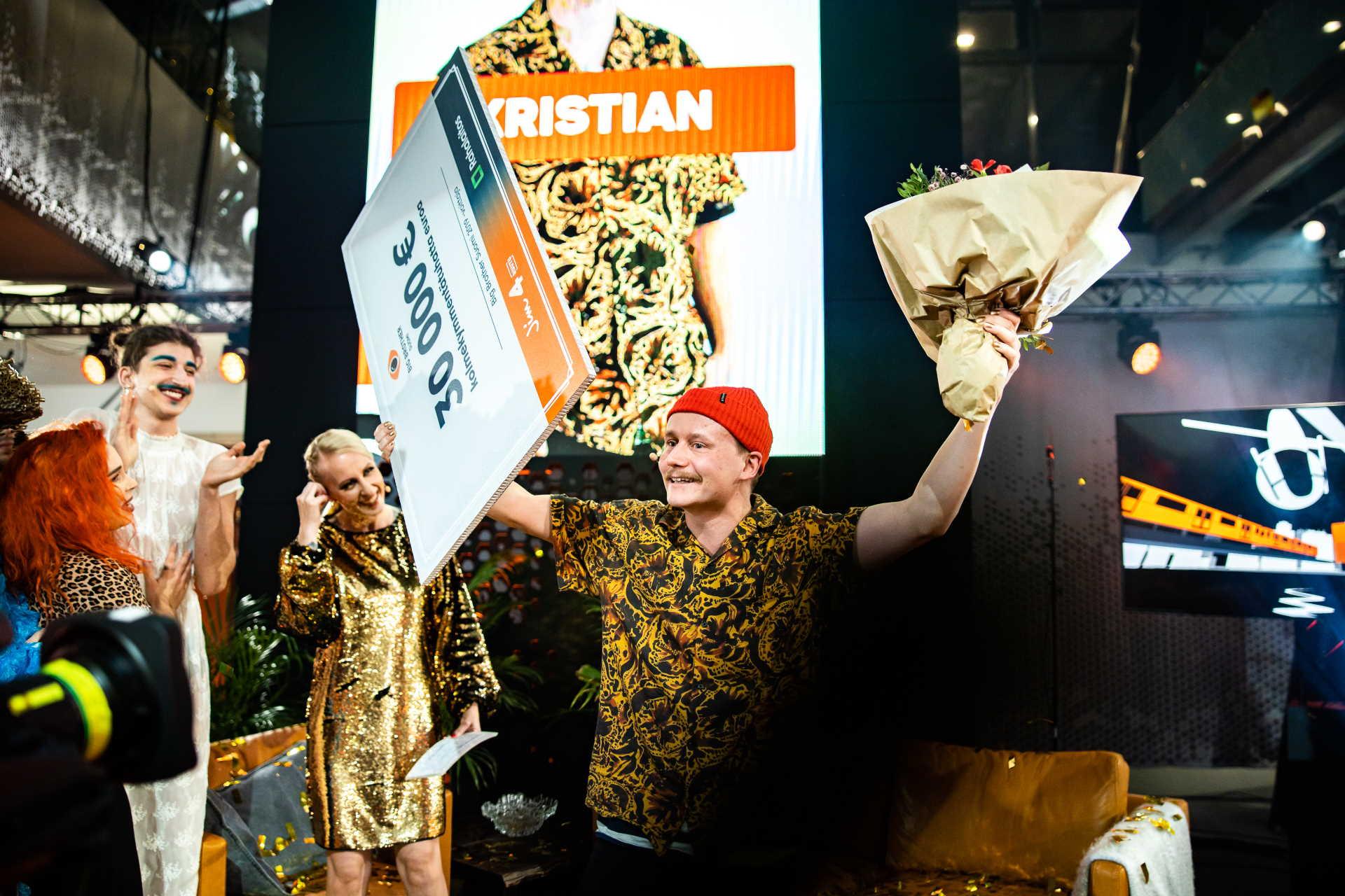 Kristian voitti Big Brotherin vuonna 2019. Kuva: © 2019 Petri Mast / Nelonen Media.